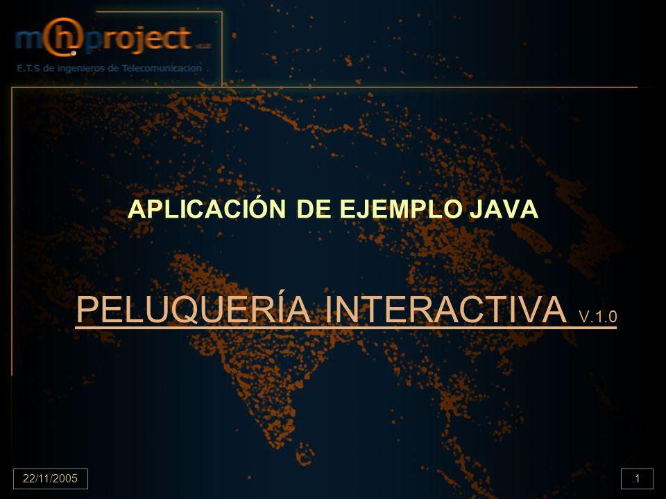 22/11/2005.2 Código Fuente public class Peluqueria { public static void main(String[] args) { Caja cajaA=new Caja();//creamos caja nueva Peluquero alex = new Peluquero( alex ,cajaA); //creamos peluquero Aprendiz amaia = new Aprendiz( amaia ,25); //creamos aprendiz Cliente juan = new Cliente( Juan ,true,400); //creamos clientes Cliente pepe = new Cliente( pepe ,false,200); System.out.println( juan tiene +juan.getDinero()); System.out.println( pepe tiene +pepe.getDinero()); System.out.println( la cajaA tiene +cajaA.getSaldo()); /*************en la pelu***************************/ amaia.aceptarCliente(pepe); //aceptar clientes alex.aceptarCliente(juan); alex.cortarPelo();//cortarles el pelo amaia.cortarPelo(); alex.cobrar();//cobrarles amaia.cobrar(); alex.despacharCliente();//despacharles amaia.despacharCliente();//despacharles (amaia no puede) alex.despacharCliente(amaia); /*************fuera de la pelu***************************/ System.out.println( juan tiene ahora +juan.getDinero()); System.out.println( pepe tiene ahora +pepe.getDinero()); System.out.println( juan es +alex.getCliente()); System.out.println( pepe es +amaia.getCliente()); System.out.println( la cajaA tiene ahora +cajaA.getSaldo()); System.out.println( la cajaNueva tiene ahora +amaia.getCaja().getSaldo()); cajaA.listarFacturas(); amaia.getCaja().listarFacturas(); } }
