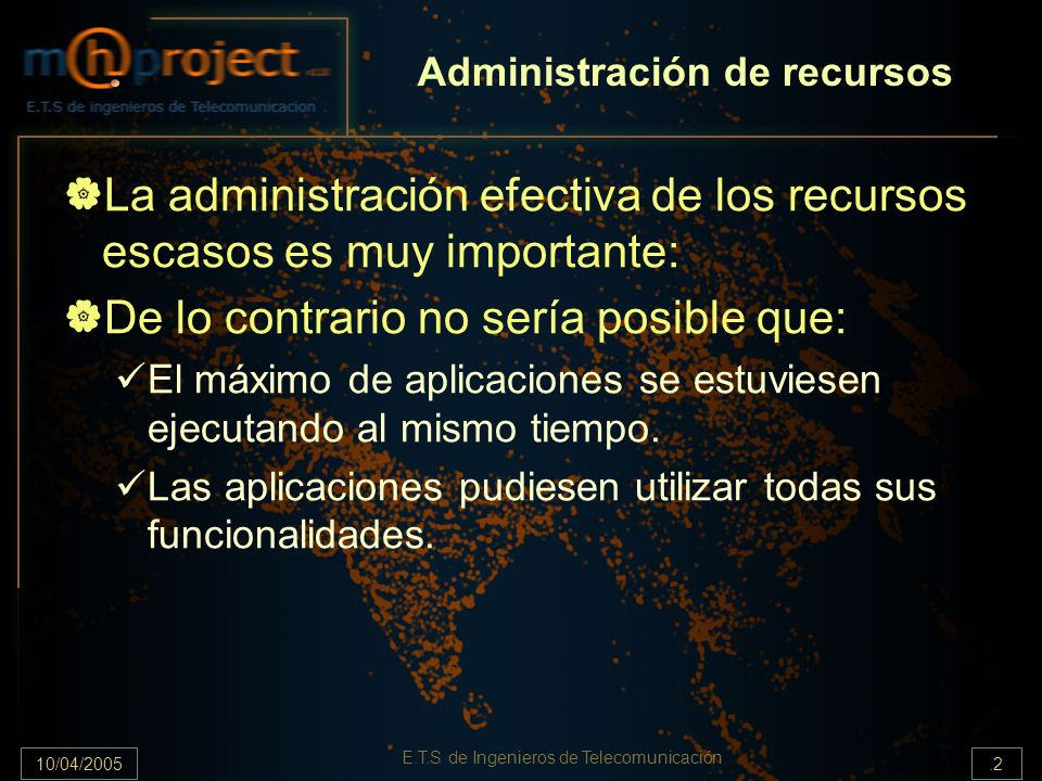 10/04/2005.33 E.T.S de Ingenieros de Telecomunicación ConnectionRCInterface Implementa el ResourceProxy.