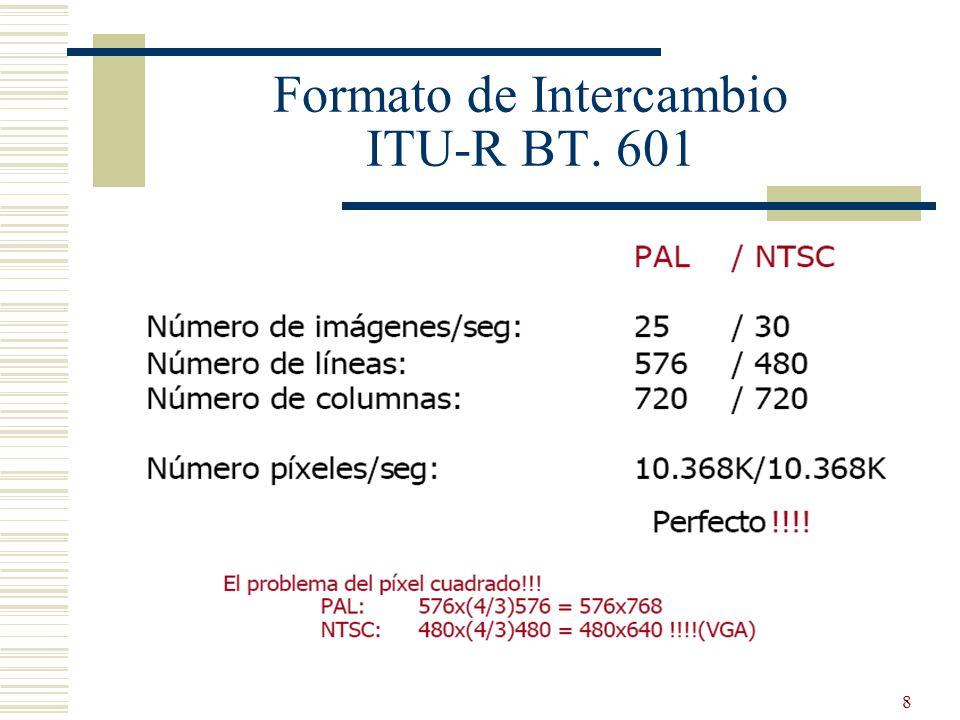 8 Formato de Intercambio ITU-R BT. 601