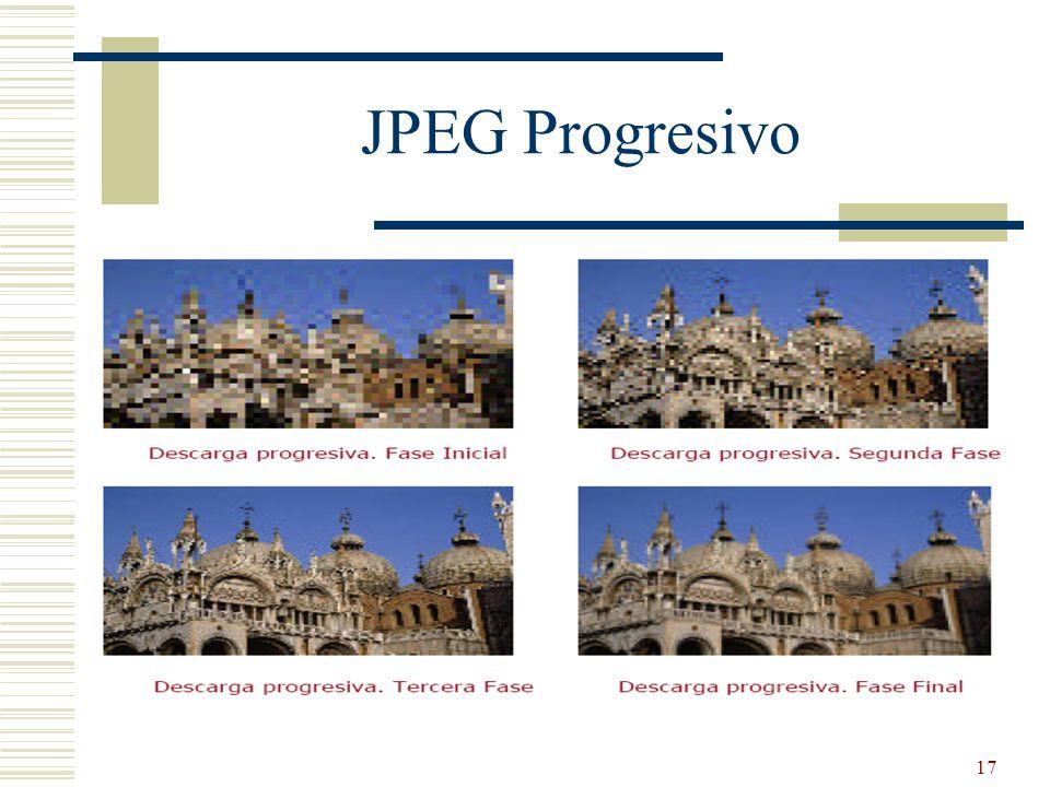 17 JPEG Progresivo