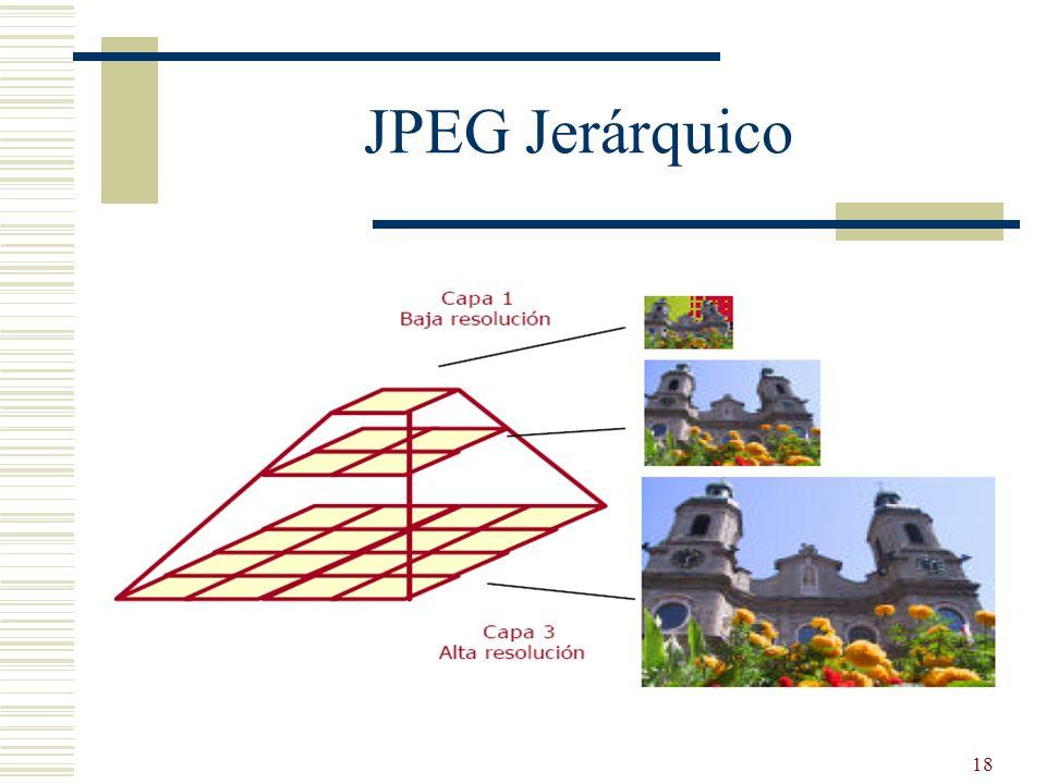 18 JPEG Jerárquico