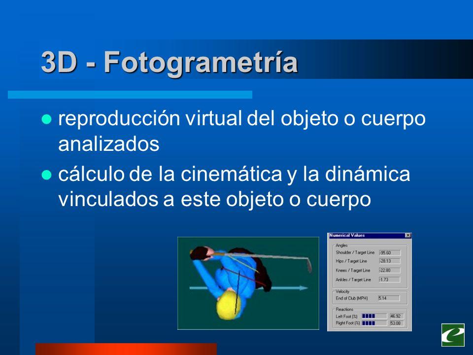 Conclusiones Principales ventajas –Calidad de información –Feedback 3D interactivo Principales inconvenientes –Sistemas automáticos no en competición –Sistemas manuales son demasiado lentos