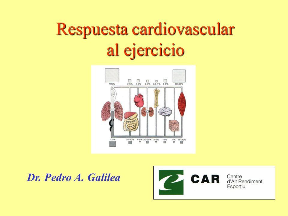 Respuesta cardiovascular al ejercicio Dr. Pedro A. Galilea