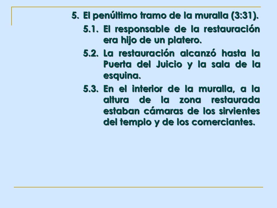 5. El penúltimo tramo de la muralla (3:31). 5.1.El responsable de la restauración era hijo de un platero. 5.2.La restauración alcanzó hasta la Puerta