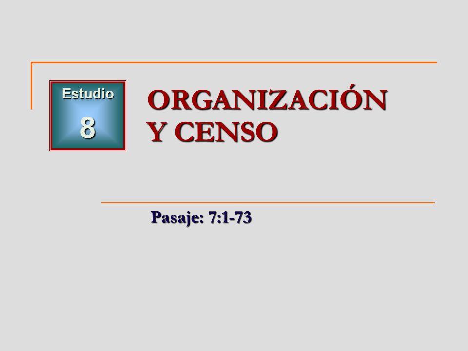 Estudio8 ORGANIZACIÓN Y CENSO Pasaje: 7:1-73