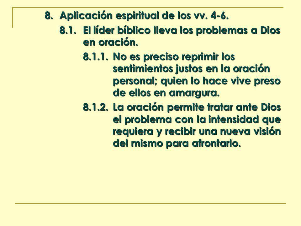 8. Aplicación espiritual de los vv. 4-6. 8.1.El líder bíblico lleva los problemas a Dios en oración. 8.1.1.No es preciso reprimir los sentimientos jus