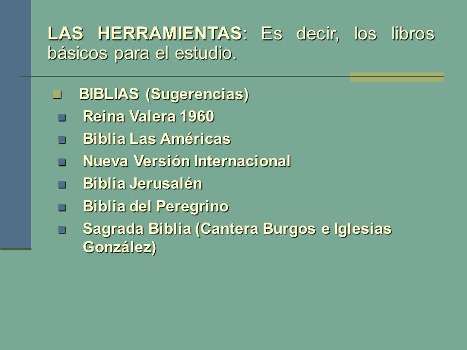 BIBLIAS (Sugerencias) BIBLIAS (Sugerencias) Reina Valera 1960 Reina Valera 1960 Biblia Las Américas Biblia Las Américas Nueva Versión Internacional Nu