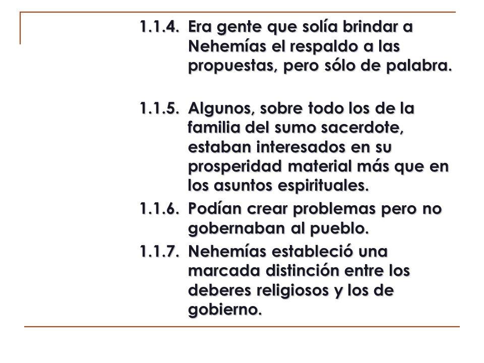 2.La relación de las familias sacerdotales (11:10-14).