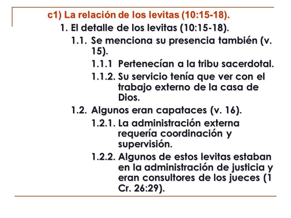 1.3.Los levitas dedicados al servicio de la alabanza (v.