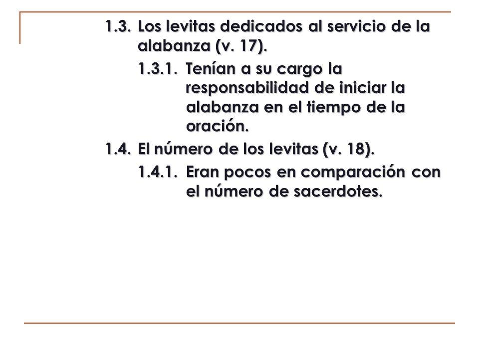 d1) Otros servicios (11:19-24).1. Los porteros (v.