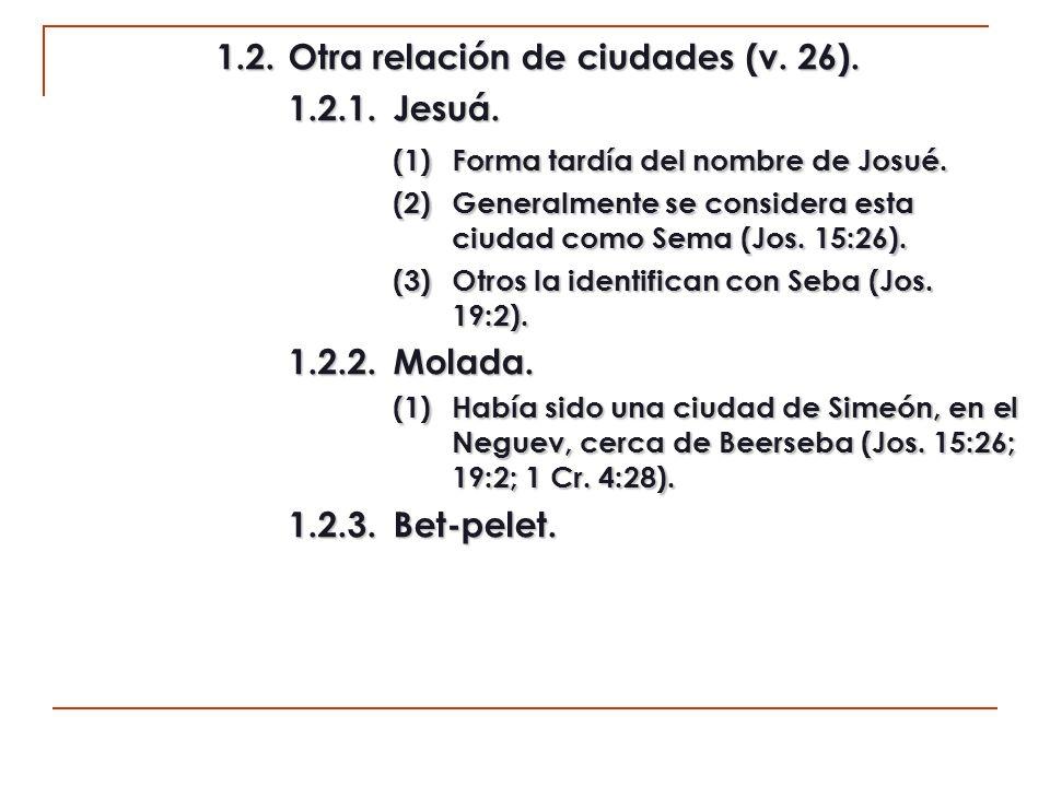1.3.La zona de Beerseba y su entorno (v.27). 1.3.1.Hazar-sual.