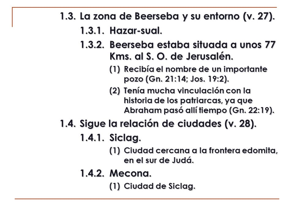 1.5La parte central (v.29). 1.5.1.En-rimón. (1)Población perteneciente a la heredad de Judá (Jos.