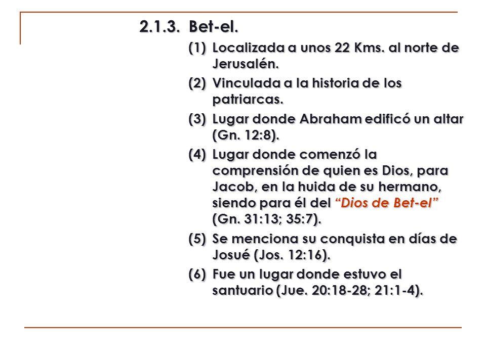 (7)Relacionada también con el santuario en tiempos de Samuel (1 S.
