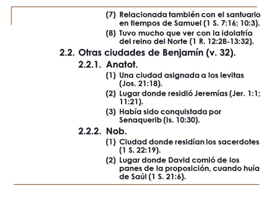 2.3.Otros lugares de residencia (v.33). 2.3.1.Hazor.