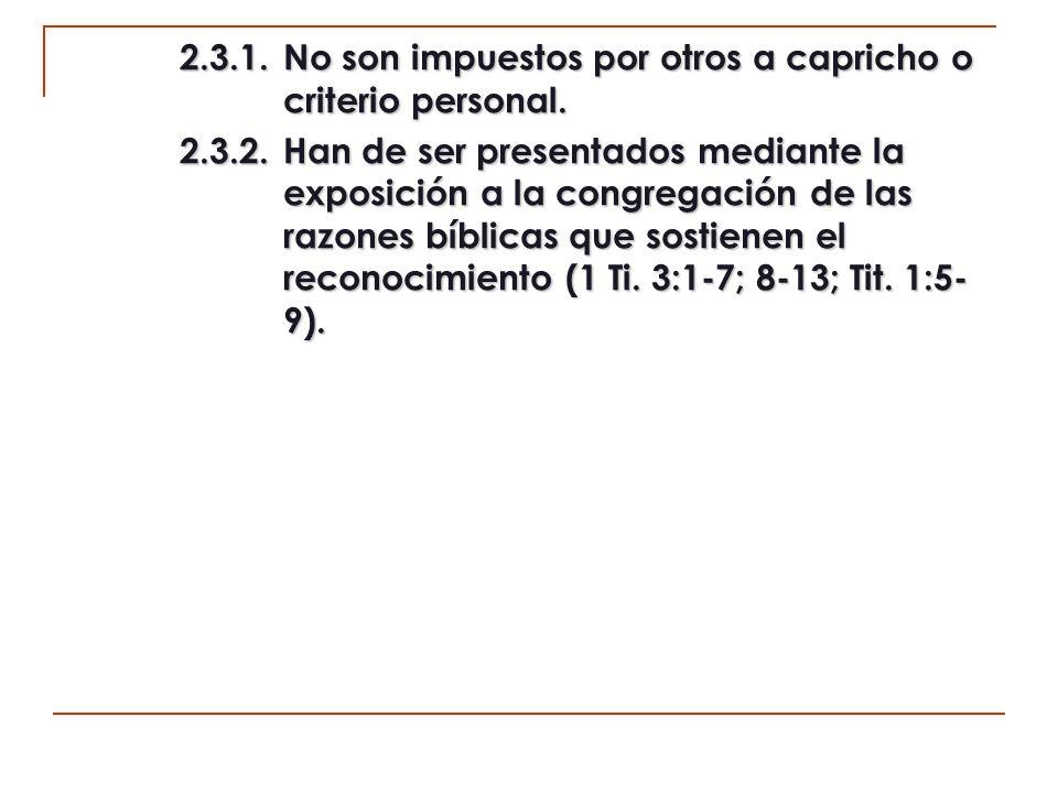 2.4.No hay familias con liderazgo hereditario en la iglesia.