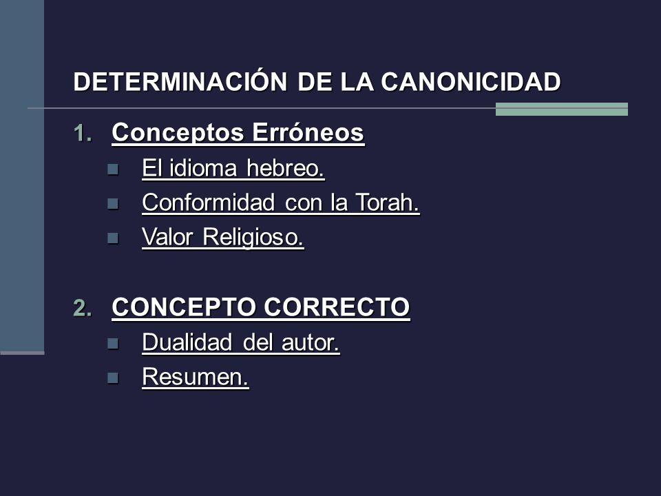 1. Conceptos Erróneos El idioma hebreo. El idioma hebreo. Conformidad con la Torah. Conformidad con la Torah. Valor Religioso. Valor Religioso. 2. CON