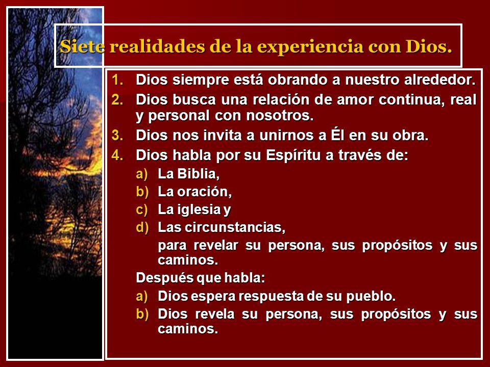 1.Dios siempre está obrando a nuestro alrededor.