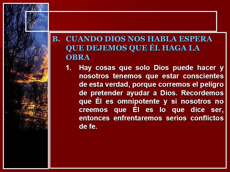 Amados hermanos, hemos visto que: Dios actúa alrededor de nosotros.