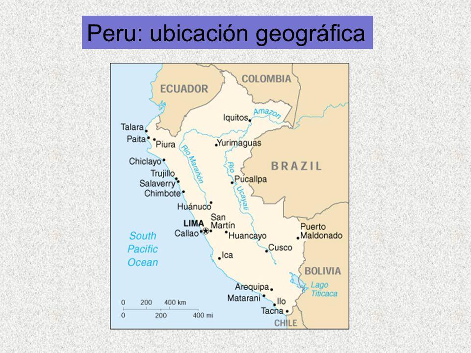 Peru: ubicación geográfica