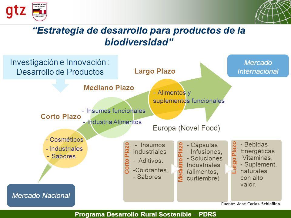 13.02.2014 Seite 16 Programa Desarrollo Rural Sostenible – PDRS Estrategia de desarrollo para productos de la biodiversidad Corto Plazo Mediano Plazo
