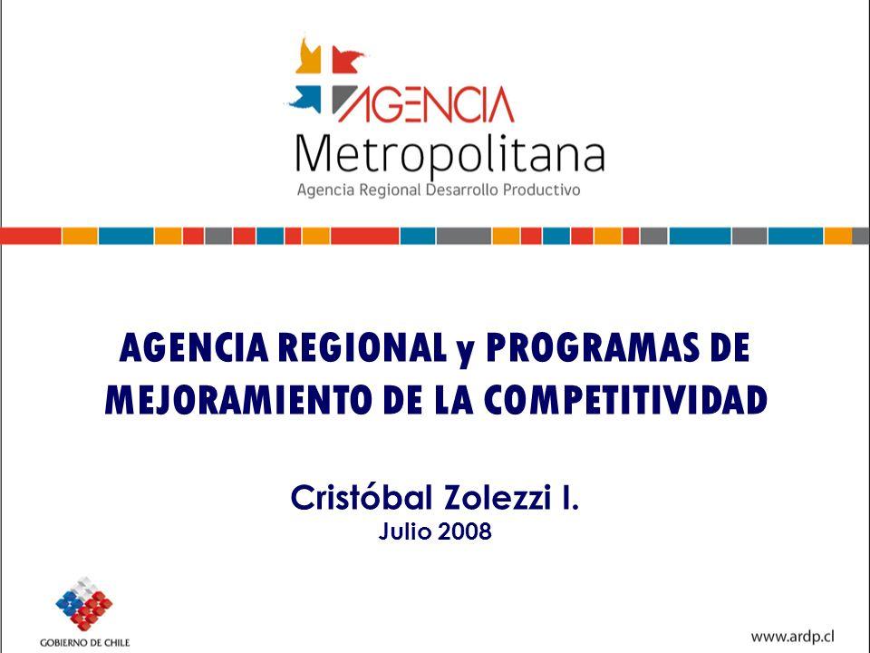 Organigrama ARDP Consejo Estratégico INTENDENTE + CORFO + 3 PRIVADOS + 2 PUBLICOS + SERCOTEC Dirección Ejecutiva AGENCIA SUBCOMITÉ DE INNOVACION DR CORFO+ CORFO (Innova, Meneses)+ 3 PRIVADOS (Vignolo,Conupia, CPC) + 2 PUBLICOS (L.Riveros, INIA)+ CONIICYT SUBCOMITÉ DE COORDINACIÓN DE FOMENTO PRODUCTIVO ARDP+ DRs de CORFO, INDAP, SERCOTEC, FOSIS, PROCHILE, SERNATUR, SENCE+ 3 D Intendente (BECH, SENCE y R.