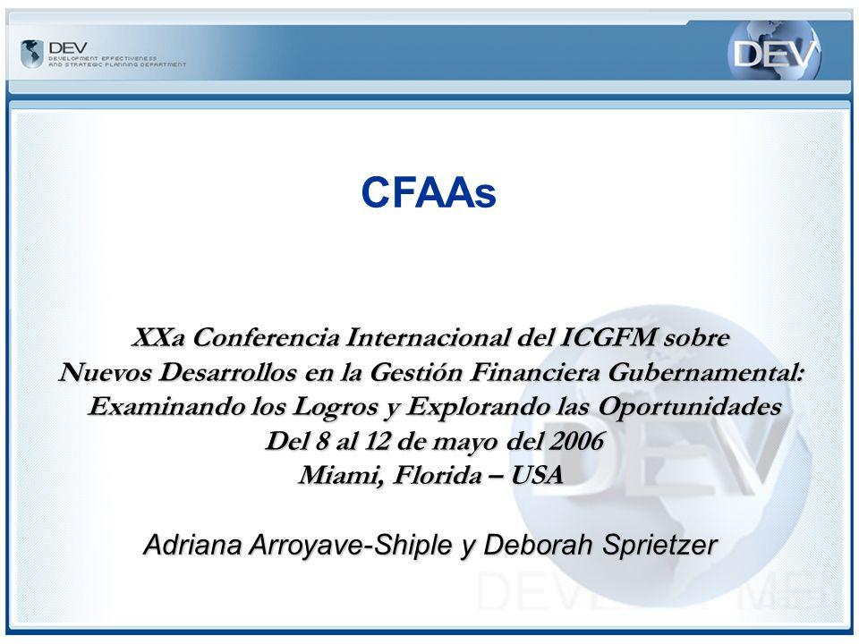 CFAAs I.Antecedentes II.Indicadores de Línea de Base III.Procedimientos IV.Participantes V.Conclusión