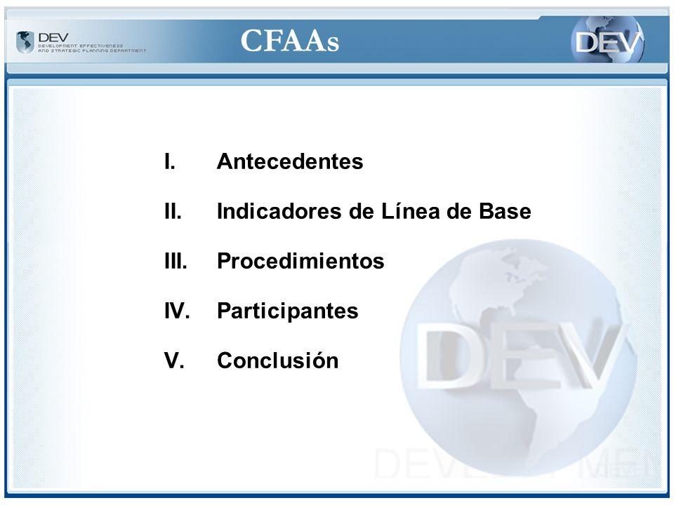 CFAAs IV.Procedimientos ©Nueva tendencia-Segunda Generación de Evaluaciones: Integración CPARs con CFAAs (4 hasta ahora: Rep.