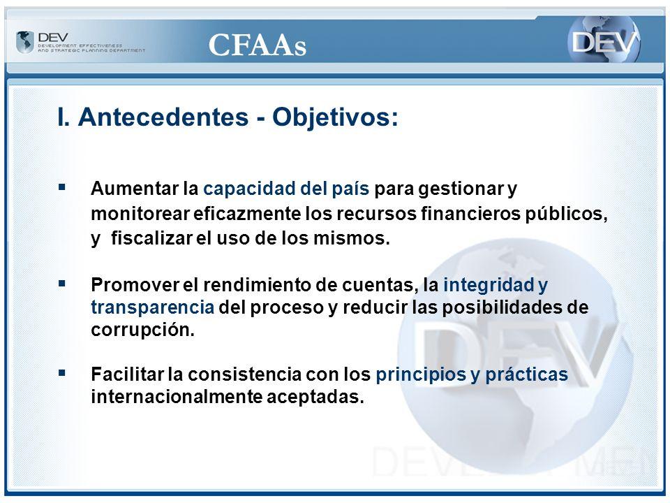 CFAAs IV.Procedimientos – CFAA ©No constituye una auditoría financiera o de los procesos de adquisiciones.
