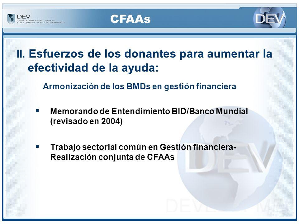 CFAAs IV.Procedimientos CFAA ©El informe CFAA incluye un Plan de Acción basado en las conclusiones acordadas con el gobierno.