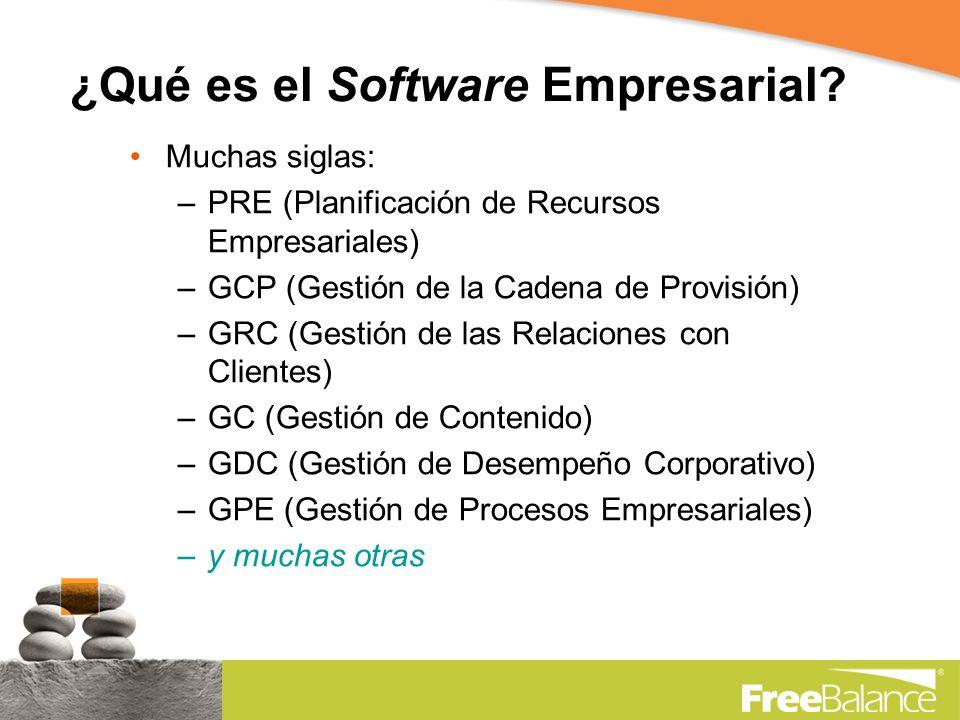 ¿Qué es el Software Empresarial.