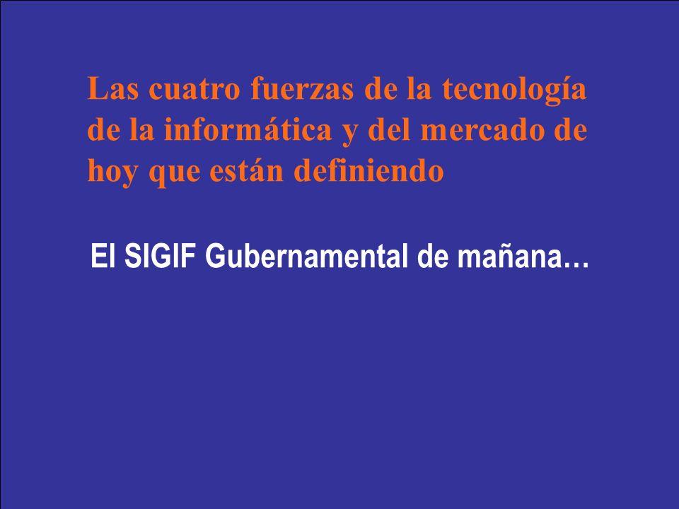 El SIGIF Gubernamental de mañana… Las cuatro fuerzas de la tecnología de la informática y del mercado de hoy que están definiendo