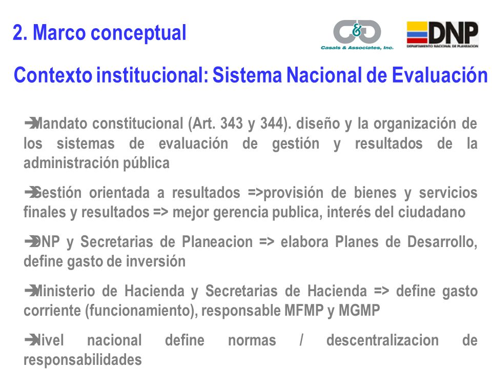 Mandato constitucional (Art. 343 y 344).