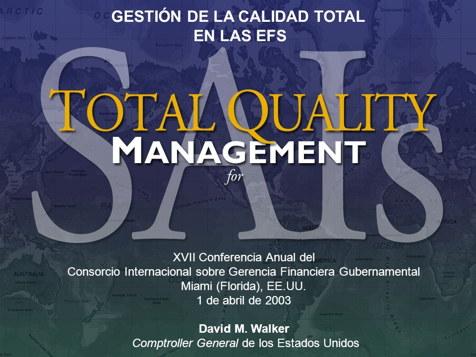 1 XVII Conferencia Anual del Consorcio Internacional sobre Gerencia Financiera Gubernamental Miami (Florida), EE.UU. 1 de abril de 2003 David M. Walke