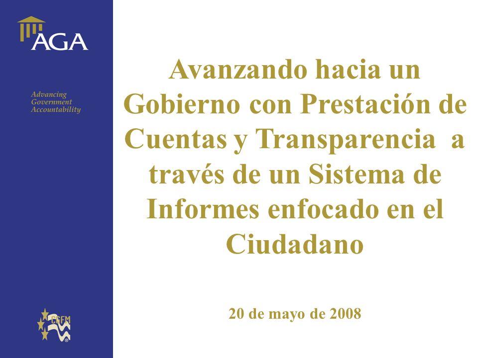 General title Avanzando hacia un Gobierno con Prestación de Cuentas y Transparencia a través de un Sistema de Informes enfocado en el Ciudadano 20 de