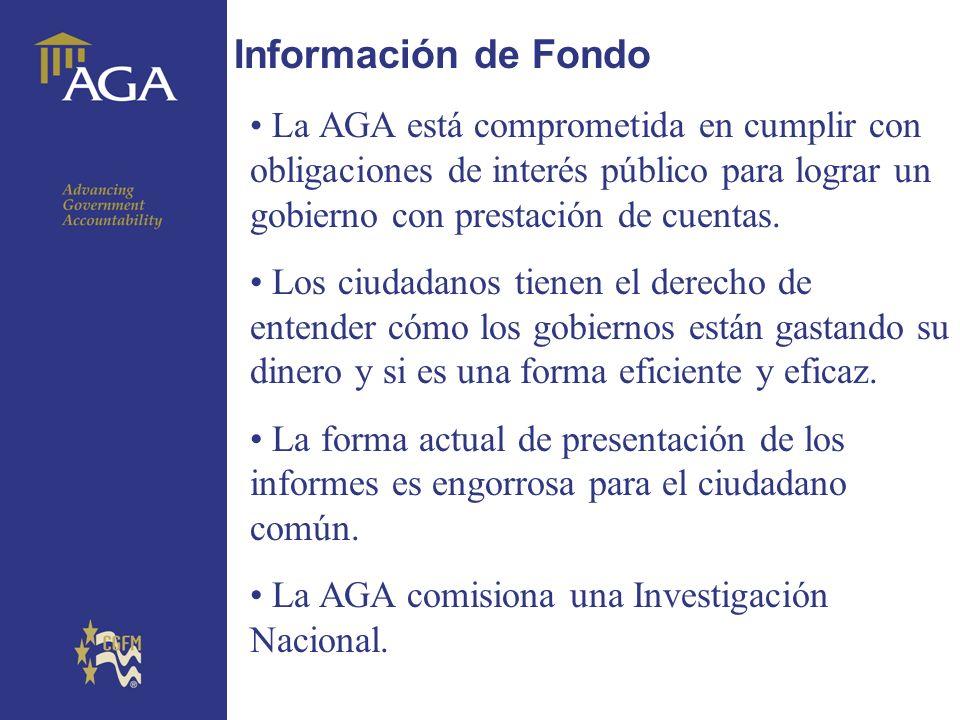 General title Información de Fondo La AGA está comprometida en cumplir con obligaciones de interés público para lograr un gobierno con prestación de c