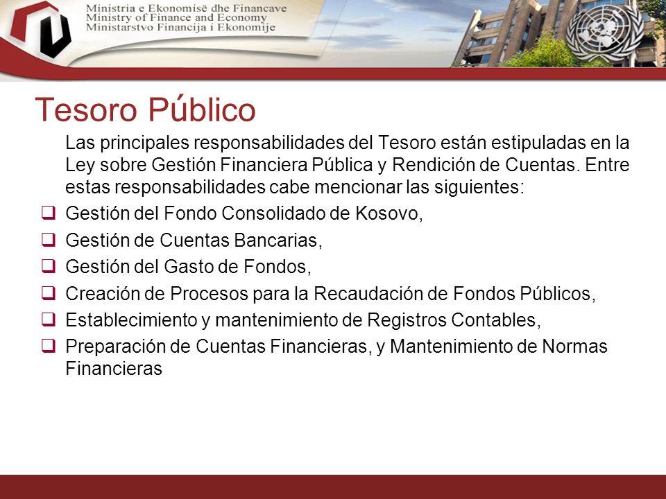 15 Tesoro P ú blico Las principales responsabilidades del Tesoro están estipuladas en la Ley sobre Gestión Financiera Pública y Rendición de Cuentas.