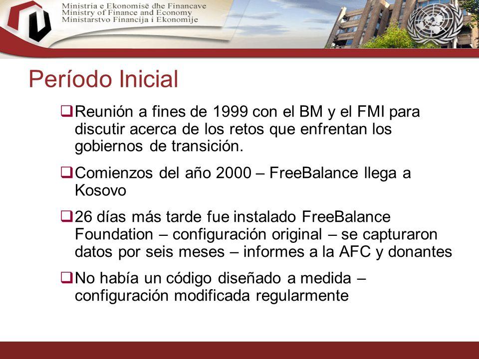 19 Período Inicial Reunión a fines de 1999 con el BM y el FMI para discutir acerca de los retos que enfrentan los gobiernos de transición.