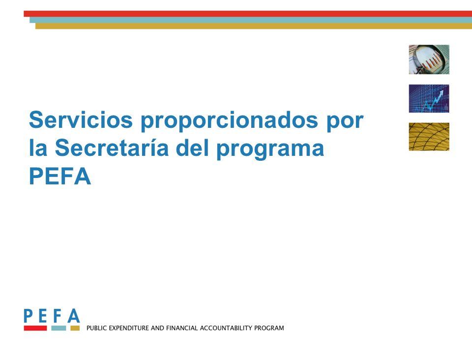 Servicios proporcionados por la Secretaría del programa PEFA