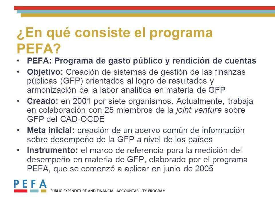 ¿En qué consiste el programa PEFA.