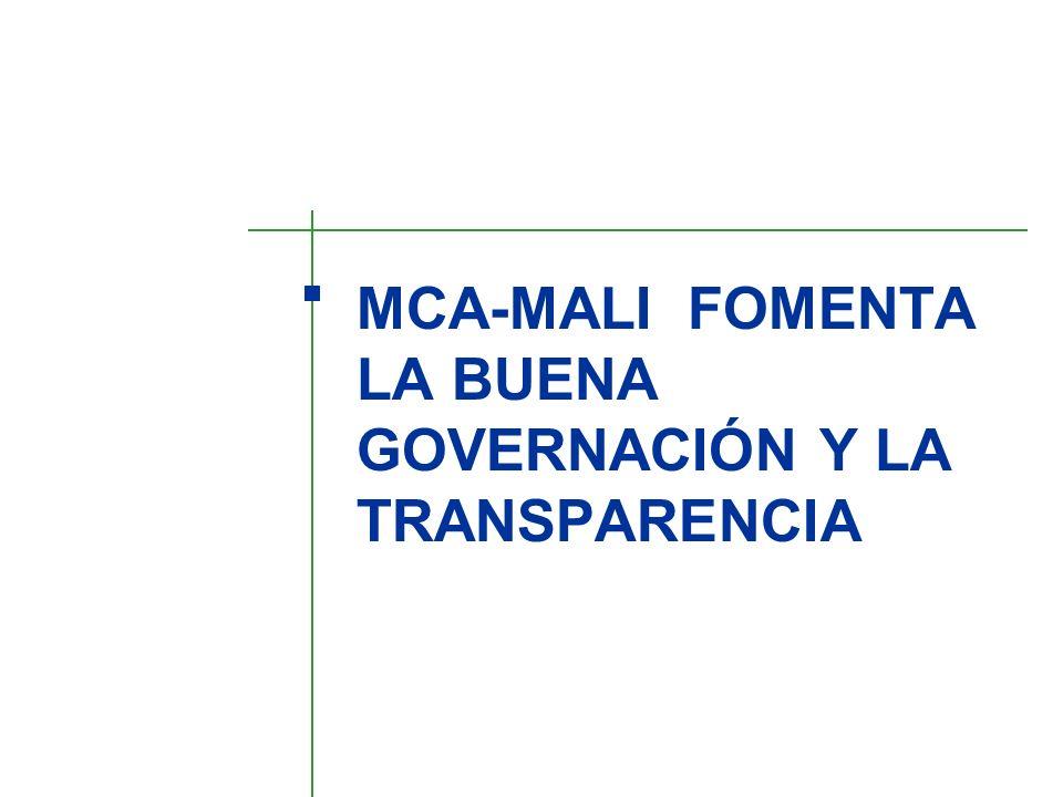 MCA-MALI FOMENTA LA BUENA GOVERNACIÓN Y LA TRANSPARENCIA