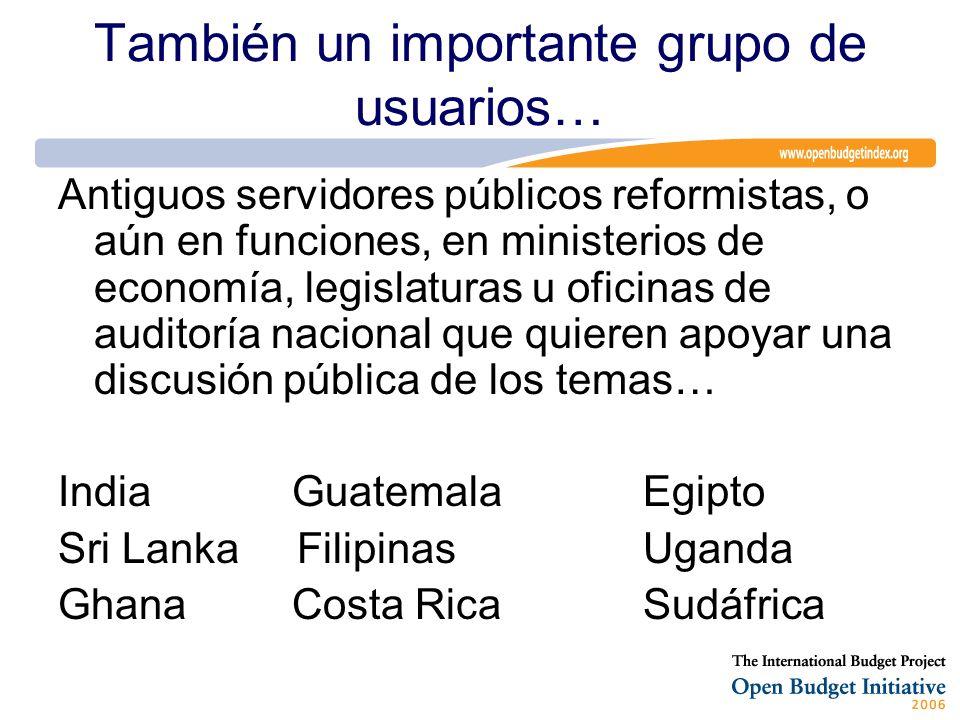 También un importante grupo de usuarios… Antiguos servidores públicos reformistas, o aún en funciones, en ministerios de economía, legislaturas u ofic