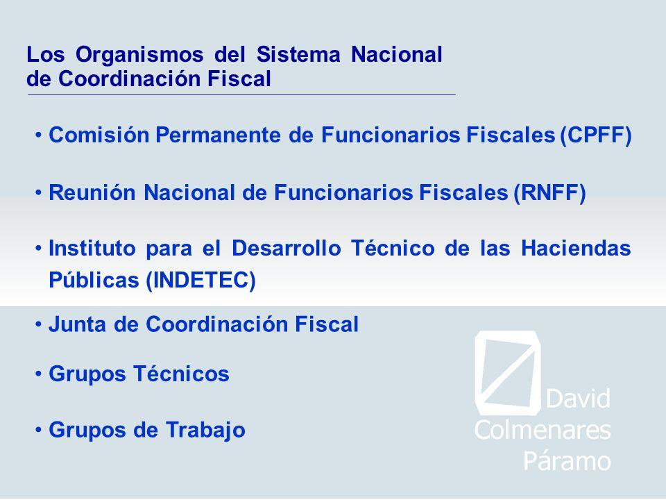 Los Organismos del Sistema Nacional de Coordinación Fiscal Reunión Nacional de Funcionarios Fiscales (RNFF) Comisión Permanente de Funcionarios Fiscal