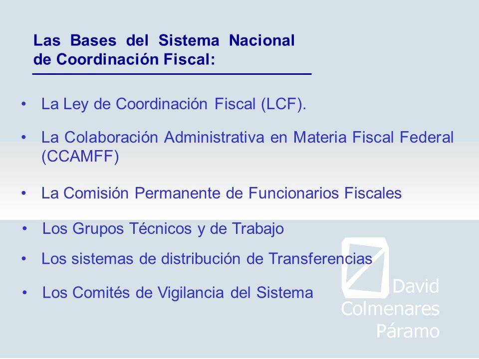 Las Bases del Sistema Nacional de Coordinación Fiscal: La Ley de Coordinación Fiscal (LCF). La Colaboración Administrativa en Materia Fiscal Federal (