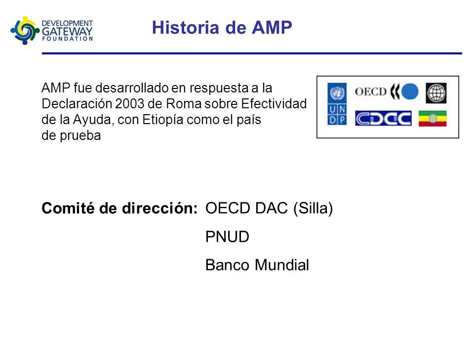 Características claves AMP (Módulos) Información de la ayuda – Vista sumaria de todas las actividades del desarrollo en la lista del equipo Informes a