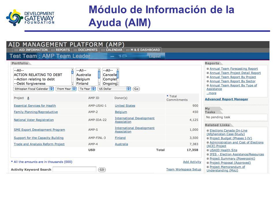 Plataforma de Gestión de la Ayuda (Aid Management Platform - AMP)