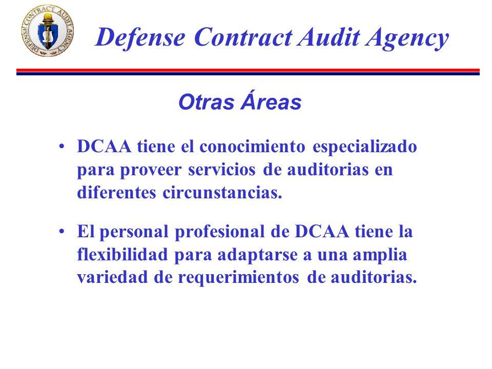 DCAA tiene el conocimiento especializado para proveer servicios de auditorias en diferentes circunstancias.