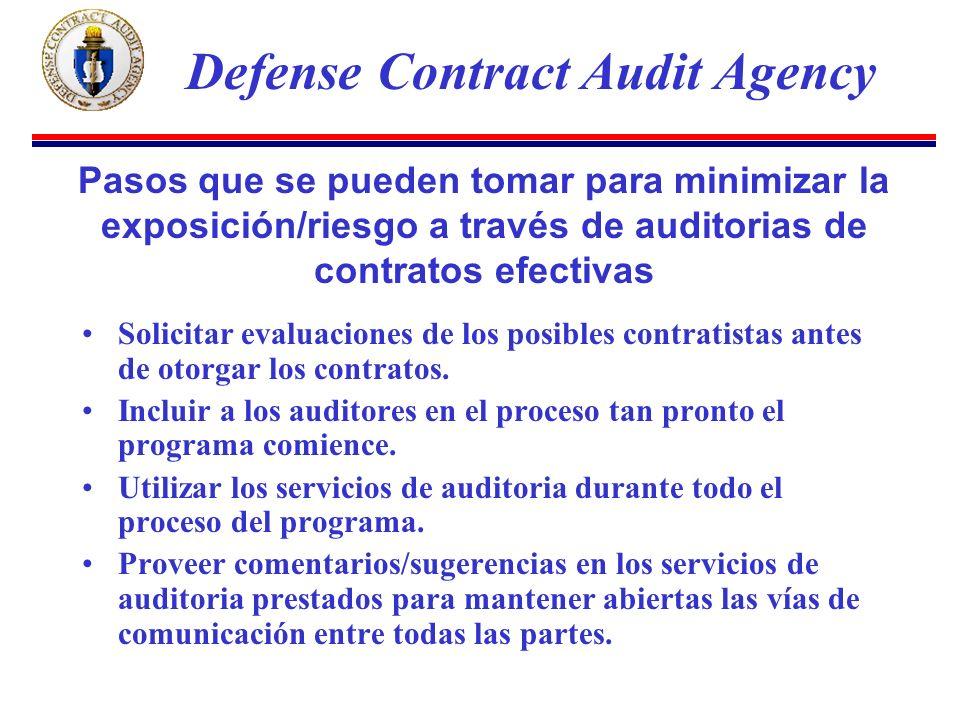 Solicitar evaluaciones de los posibles contratistas antes de otorgar los contratos.