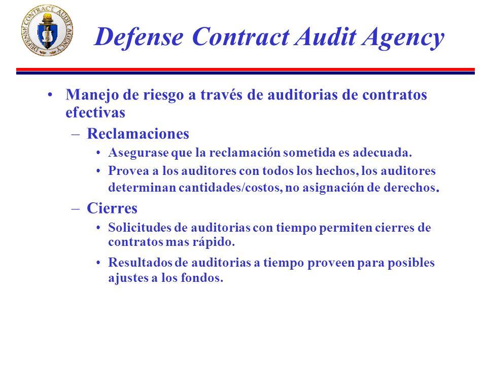 Manejo de riesgo a través de auditorias de contratos efectivas –Reclamaciones Asegurase que la reclamación sometida es adecuada.