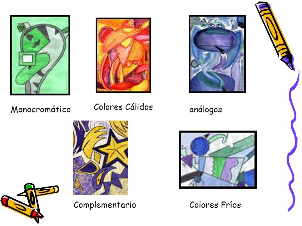 Monocromático Colores Cálidos análogos Colores FríosComplementario