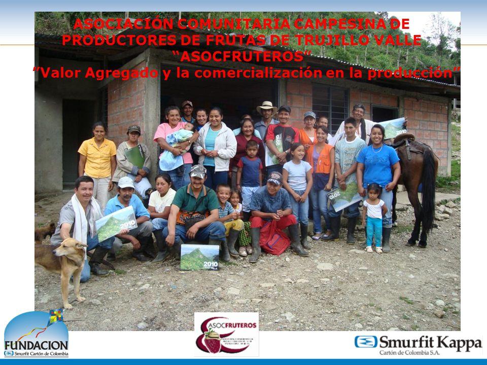 1 ASOCIACIÓN COMUNITARIA CAMPESINA DE PRODUCTORES DE FRUTAS DE TRUJILLO VALLE ASOCFRUTEROS Valor Agregado y la comercialización en la producción